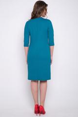 <p>Элегантное платье прямого силуэта с карманами. Рукав 3/4(Длины: 44-50=98-101 см)</p>