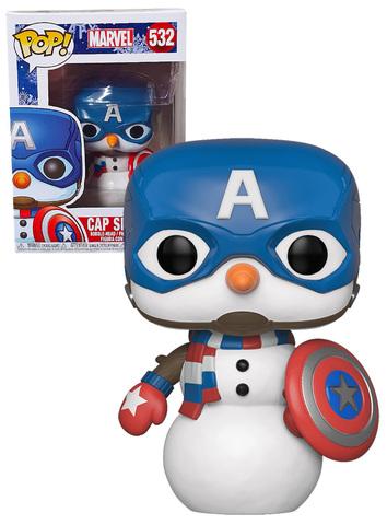 Cap Snowman Funko Pop! Vinyl Figure    Снеговик Капитан Америка