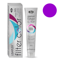 Оттенок темно-фиолетовый металлик Крем-краситель для волос Lisaplex Filter Color 100мл