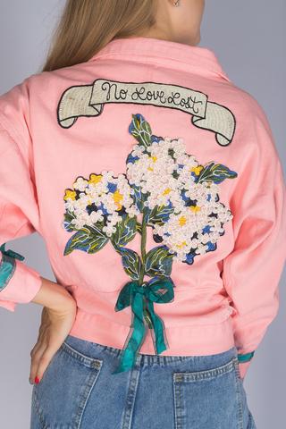 джинсовая куртка розовая женская магазин