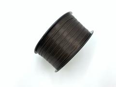 Атласная лента 6 мм, шоколад