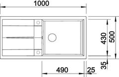 Мойка Blanco Metra XL 6S схема