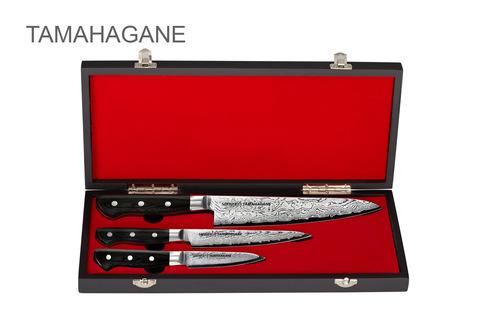 Набор из 3-х ножей в подарочной коробке Samura TAMAHAGANE. арт. ST-0220/G-10