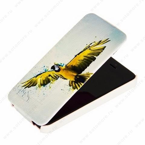 Чехол-флип Fashion для iPhone SE/ 5s/ 5C/ 5 откидной с рисунком вид 73