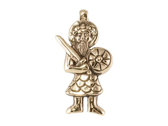 Православные украшения Федор Стратилат кулон RH-1139.jpg