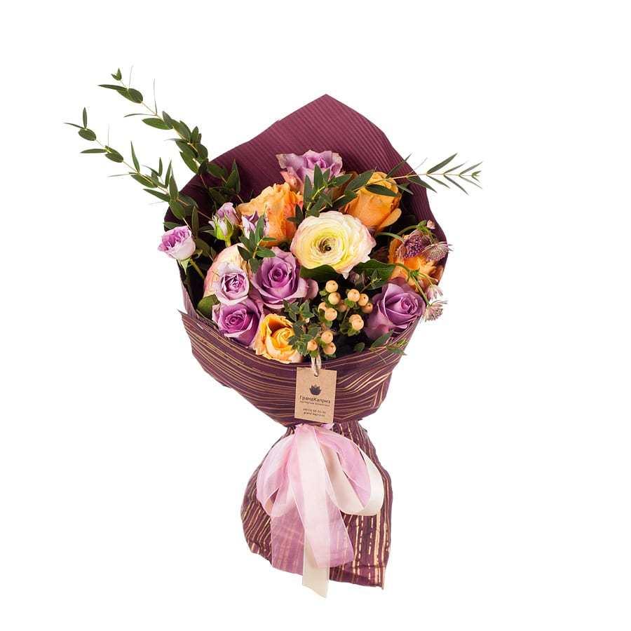 Букет из жёлтых роз и ранункулюса - Фелиция
