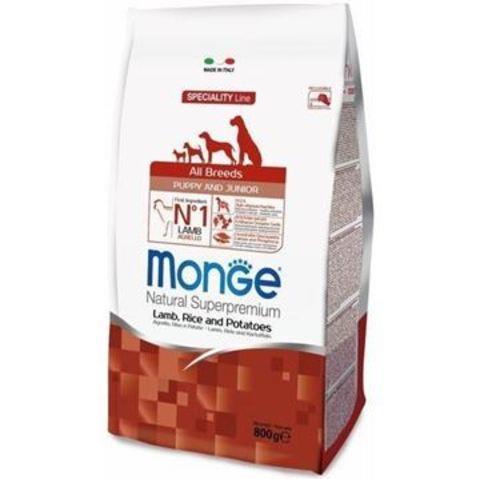 Monge Puppy & Junior Lamb ягненок рис 15 кг