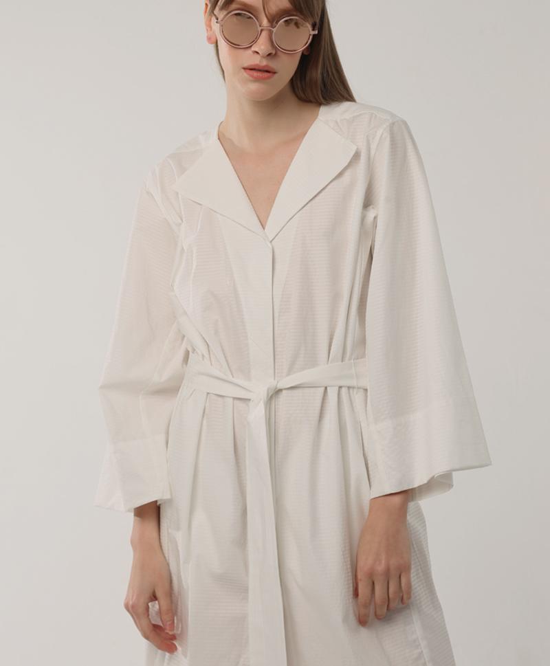 Платье-халат в полоску