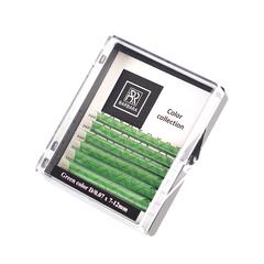Цветные ресницы BARBARA (зелёные №2) МИНИ-МИКС