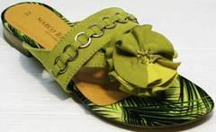 Вьетнамки босоножки без каблуков женские Marco Tozzi 2-27104-20 Green.
