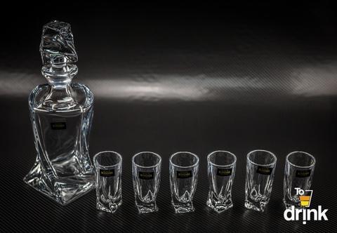 Набор для водки и ликера из 7 предметов «Quadro»