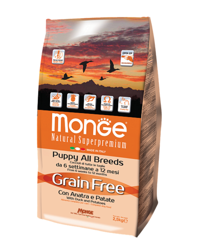 Monge Grain Free All Breeds Puppy