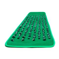Рефлекторный массажный коврик с камнями