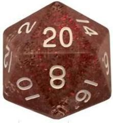 Mega Acrylic D20: Ethereal Light Purple with White Numbers