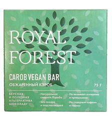 Шоколад ROYAL FOREST VEGAN обжаренный кэроб, 75 гр. (ТрансКэроб)