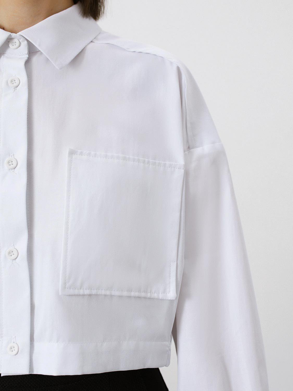Рубашка Paris укороченная, Белый
