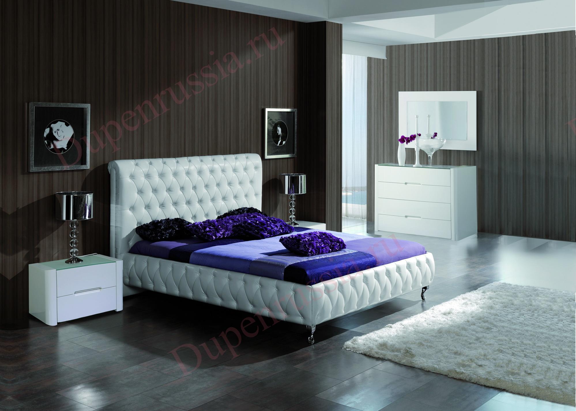 Кровать DUPEN 629 ADRIANA, Тумбочка M-110, Комод C-110, Зеркало E-96