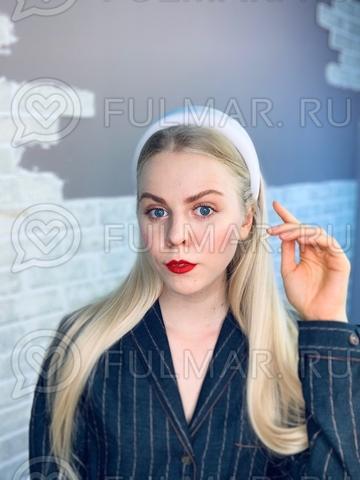 Широкий ободок для волос модный 2019 Белый