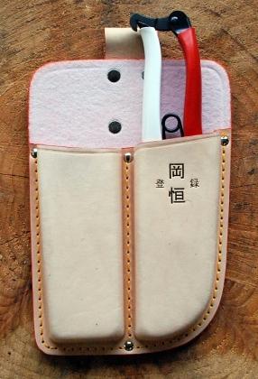 Кожаный чехол, двойной, последовательный для секаторов Okatsune 101 & 103