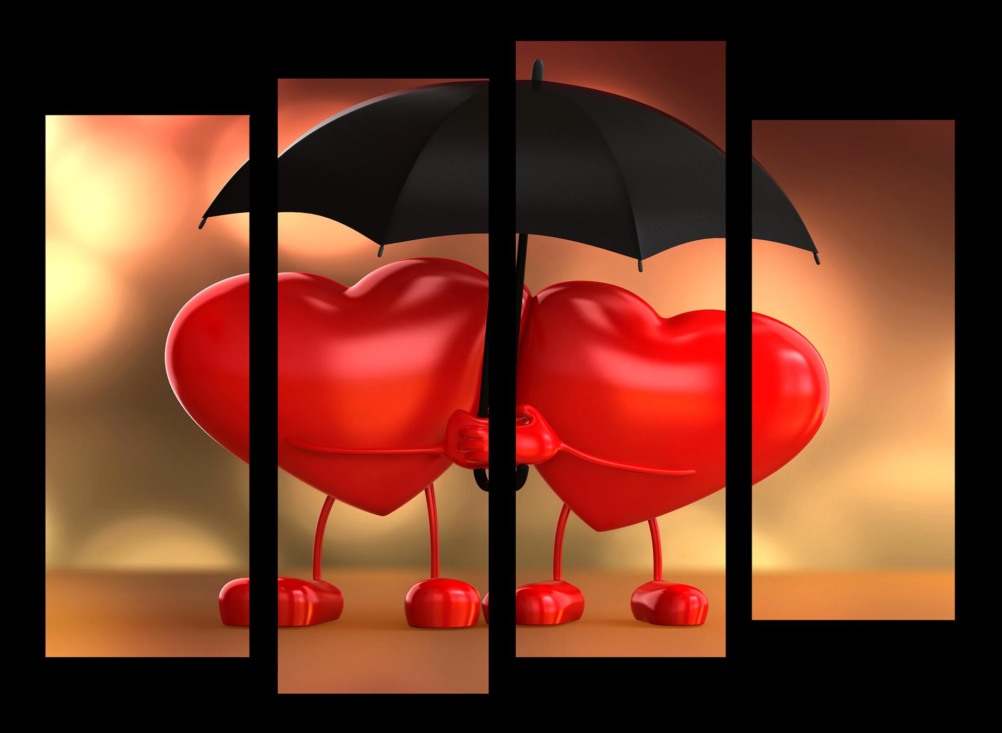 """Модульные картины Модульная картина """"Любовь сердец"""" М1107.png"""
