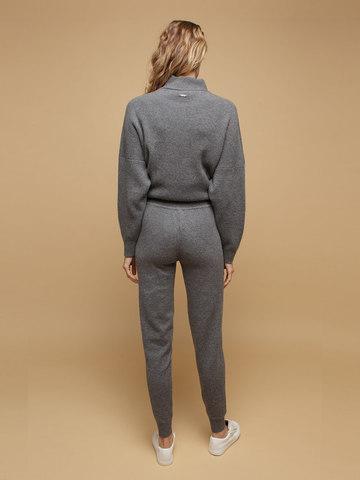 Женские брюки темно-серого цвета из 100% кашемира - фото 4