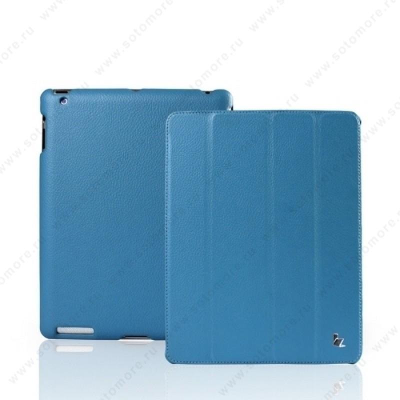 Чехол-книжка Jisoncase для Apple iPad 4/ 3/ 2 JS-IPD-07I с логотипом голубой SLE