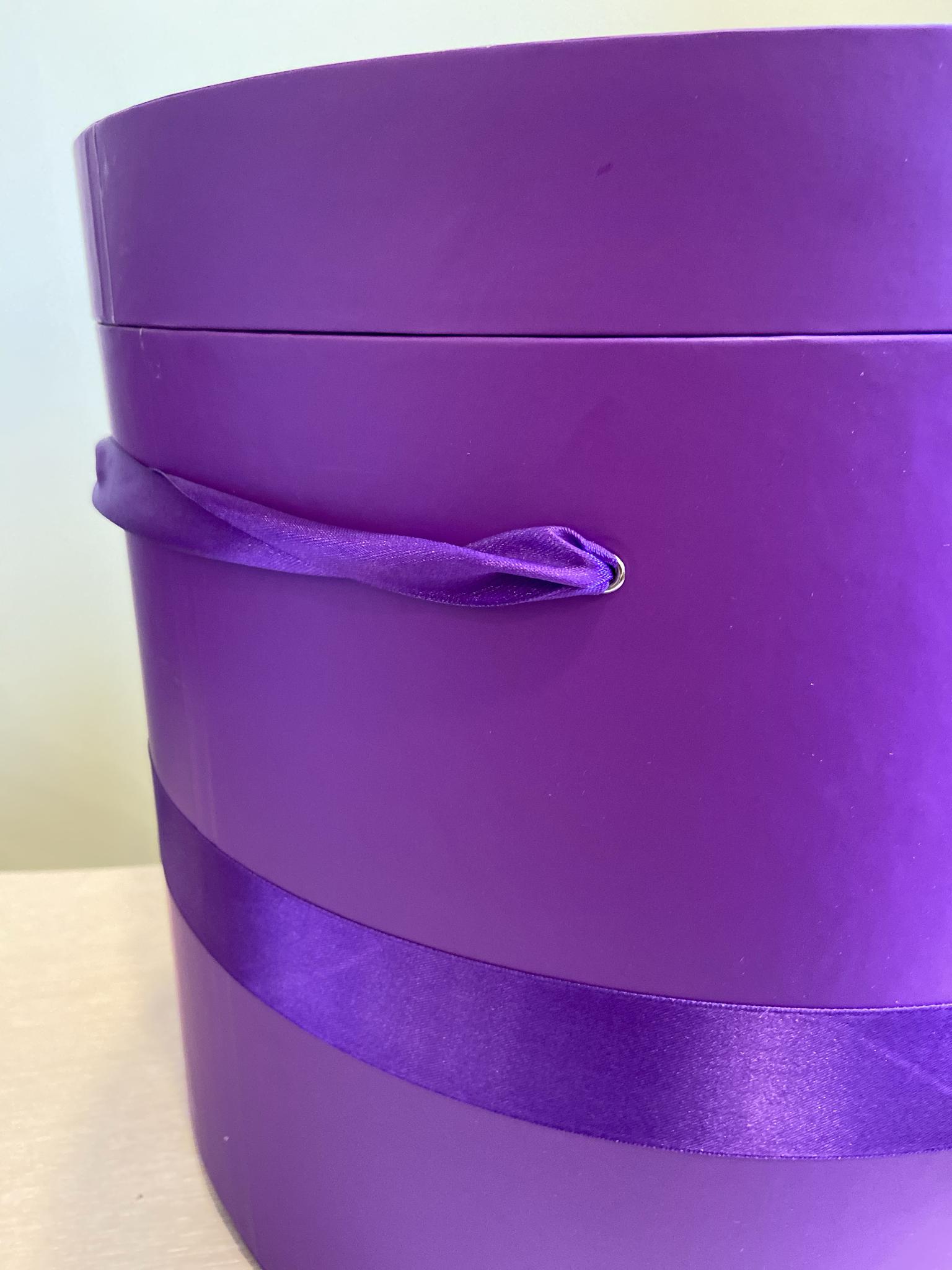 Шляпная коробка 40 см Цвет: Фиолетовый   . Розница 950 рублей .