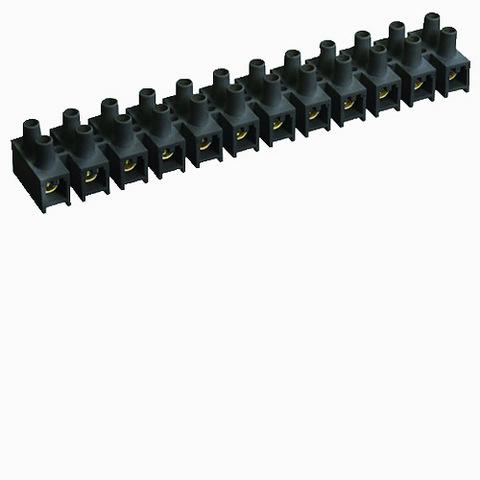 Зажим винтовой ЗВИ-100 полипропилен 6-25мм2 12пар 100°С черный TDM