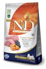 Корм для собак мелких пород, Farmina N&D Pumpkin Lamb & Blueberry Adult Mini, с ягненком и черникой