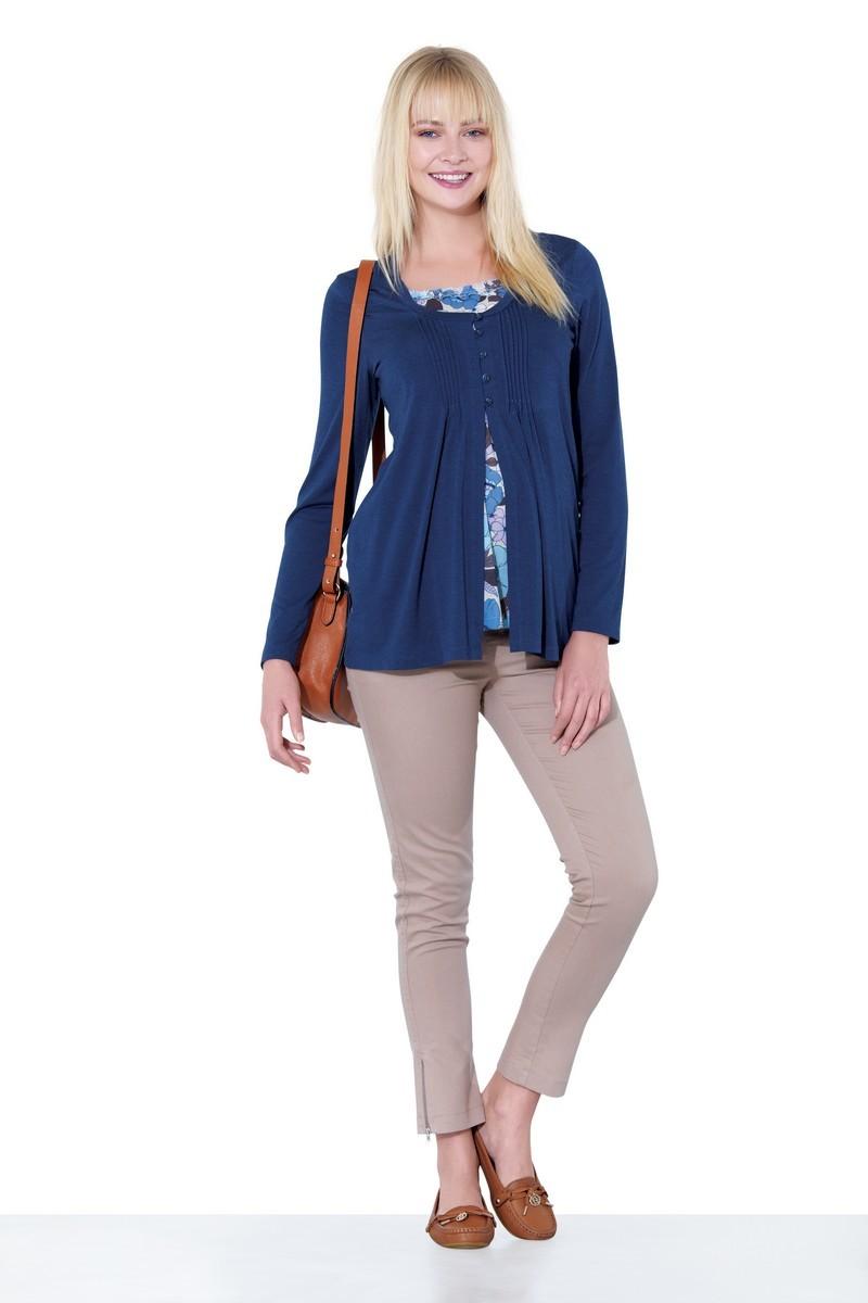 Блузка для беременных 01372 синий