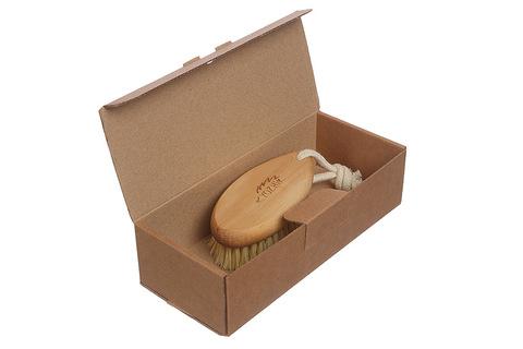 YOZHIK Щётка для сухого массажа (класс М компакт, натуральное волокно тампико) фото в коробке