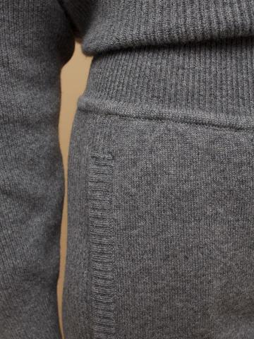 Женские брюки темно-серого цвета из 100% кашемира - фото 5