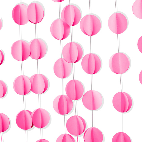 Гирлянда-подвеска Круги, Розовый