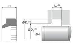 Грязесъемник AE42 | 90 TPU PU905501 Blue | 120 X 132,2 X 7,2 MM