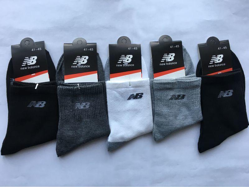 Носки New Balance - комплект из 5 штук (черные 2 шт., темно- серые, серые, белые)