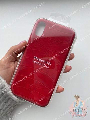 Чехол iPhone 7/8 Plus Leather case full /red/