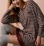 Домашнее платье в полоску Rebecca & Bros