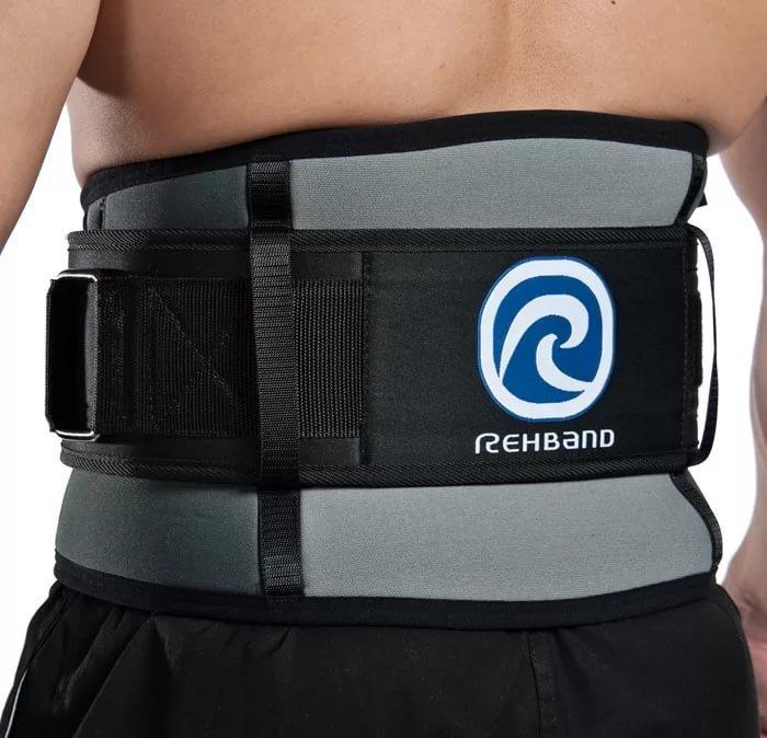 Бандажи и корсеты поясничные и пояснично-крестцовые Спортивный бандаж тяжелоатлета поясничный Rehband 7792 45.jpg