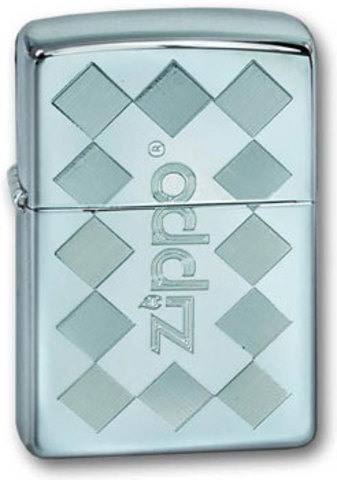 Зажигалка Zippo Zframed с покрытием High Polish Chrome, латунь/сталь, серебристая, глянцевая123