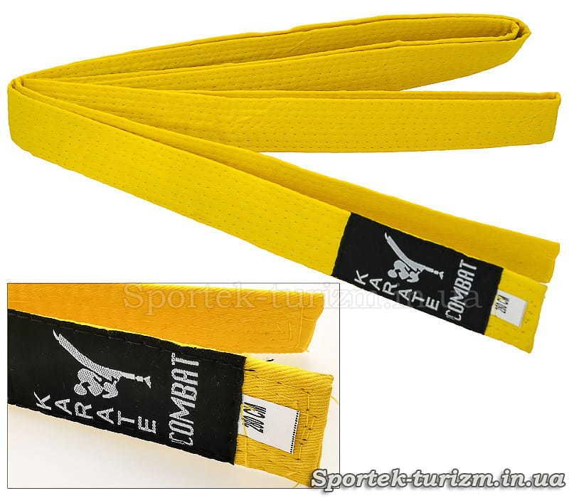 Жовтий пояс Combat 280 см для кімоно