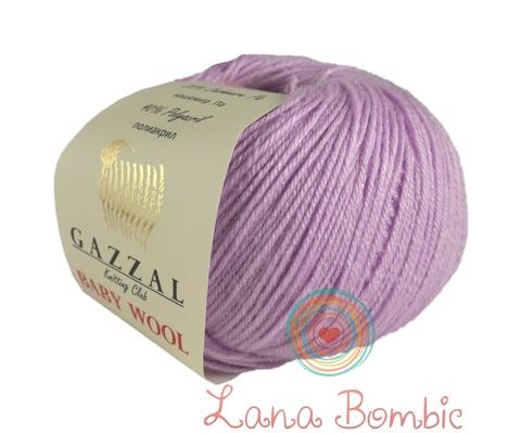 Пряжа Gazzal Baby Wool сиреневый 823
