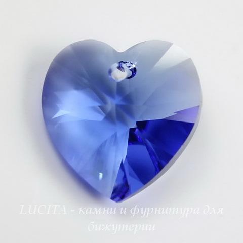 6228 Подвеска Сваровски Сердечко Sapphire (18х17,5 мм)