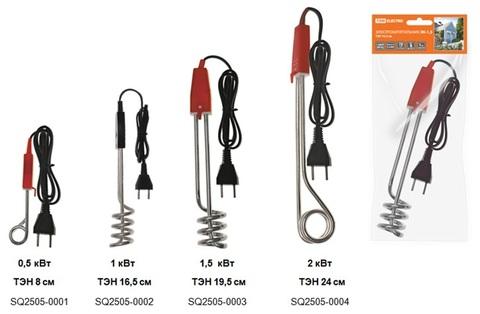 Электрокипятильник ЭК-1,5; 230 В, 1,5 кВт, ТЭН 19,5 см, TDM