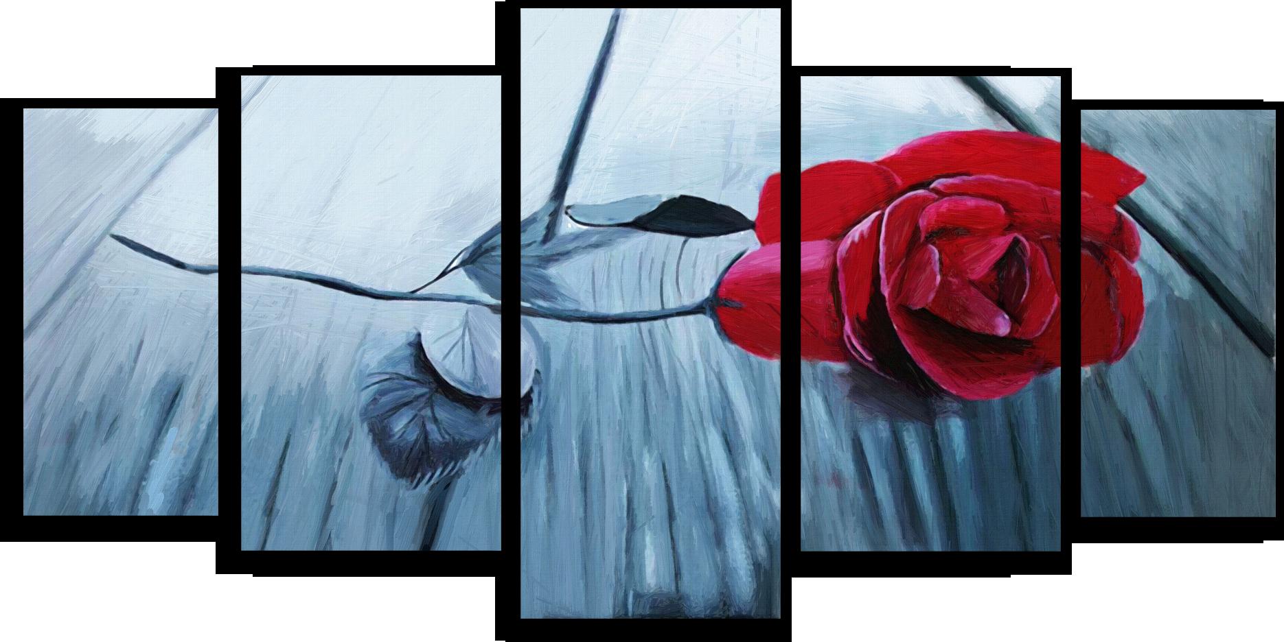 """Цветы Модульная картина """"Элегантная роза"""" М349.png"""