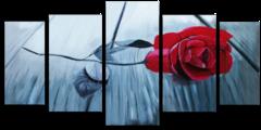 "Модульная картина ""Элегантная роза"""