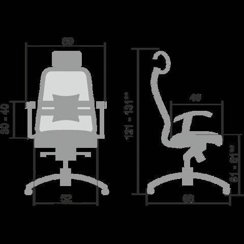 SAMURAI S-3.02 Кресло руководителя (Метта)