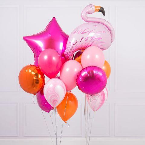Фонтан из шаров Ягодный фламинго