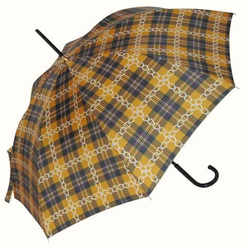 Зонтик в крупную коричневую клетку
