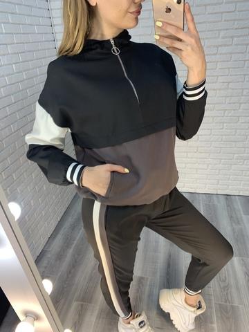 женский спортивный костюм трехцветный недорого