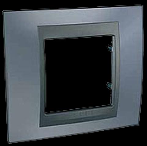 Рамка на 1 пост. Цвет Грэй-графит. Schneider electric Unica Top. MGU66.002.297